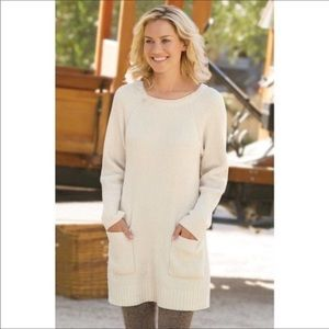 Soft Surroundings Ribbed Chenille Tunic Sweater S